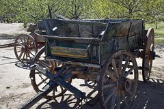 Vintage Farm Wagon that has seen better days... royalty free stock images