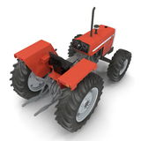 Vintage Farmall Tractor on white. 3D illustration Stock Images