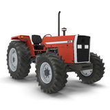 Vintage Farmall Tractor on white. 3D illustration Royalty Free Stock Photos
