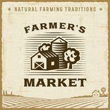 Vintage Farmer's Market Label Royalty Free Stock Photo