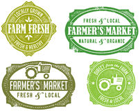 Vintage Farmer's Market Stamps Stock Photos