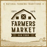 Vintage Farmers Market Label Royalty Free Stock Photography
