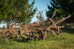 Vintage Farming Plough Royalty Free Stock Photography