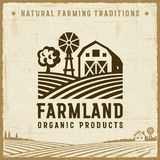 Vintage Farmland Label Royalty Free Stock Image