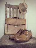 Vintage fashion bag , shoes ,hat , accessories Royalty Free Stock Photos