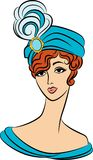 Vintage fashion girl in hat. Stock Image