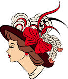 Vintage fashion girl in hat Stock Photo
