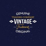 Vintage Fashion Labels on Dark Blue Background Stock Photos