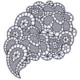 Vintage fashion lace paisley with abstract flowers Stock Images