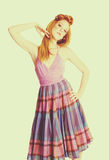 Vintage Fashion Model Woman royalty free stock images