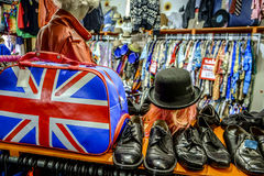Vintage fashion store in Camden Lock market, one of the most famous landmarks in the city Stock Image