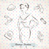 Vintage fashion Stock Photo