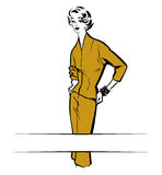Vintage fashion woman Stock Image