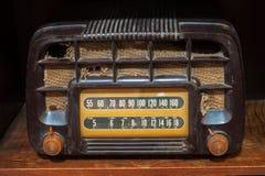 Vintage fashioned radio. The vintage fashioned radio background Stock Photography