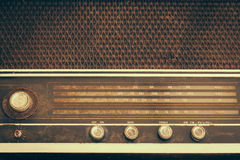 Vintage fashioned radio Royalty Free Stock Image