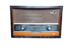 Vintage fashioned radio isolated Stock Images