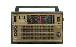 Vintage fashioned radio. Isolated in white background Royalty Free Stock Photography