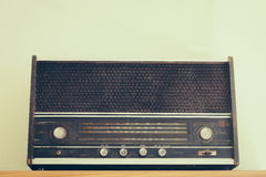 Vintage fashioned radio Stock Image