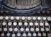Vintage fashioned typewriting machine. royalty free stock images