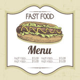 Vintage fast food background Royalty Free Stock Photo