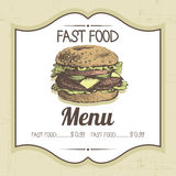 Vintage fast food background Stock Image