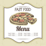 Vintage fast food background Royalty Free Stock Photography