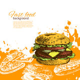 Vintage fast food background Royalty Free Stock Images
