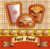 Vintage fast food Stock Photo