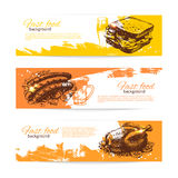 Vintage fast food banners Stock Photo
