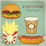 Vintage fast food menu Royalty Free Stock Photography