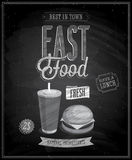 Vintage Fast Food Poster Royalty Free Stock Photo