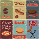 Vintage Fast Food Poster design Royalty Free Stock Photography