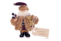 Vintage father christmas seasons greetings Stock Images