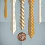 Vintage father ties template Stock Image