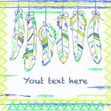 Vintage Feather illustration for your greeting card ot fabric pr Stock Image