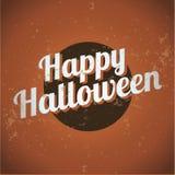 Vintage feliz de Halloween Imagens de Stock