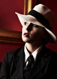 Vintage female gangster Stock Image