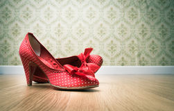 Vintage female shoes Stock Photo