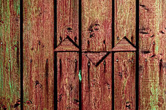 Vintage fence made of planks Stock Photos