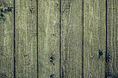 Vintage fence made of planks Stock Images