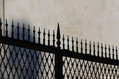 Vintage fence silhouette stock photos