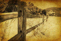 Vintage Fench Landscape Stock Photography