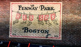 Vintage Fenway Park. Historic Fenway Park, Downtown, Boston, MA.  Home of the Boston Red Sox Stock Images