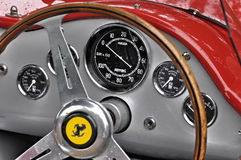 Vintage Ferrari dashboard Royalty Free Stock Image
