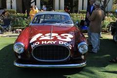 Vintage ferrari race car front view Stock Photos