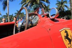 Vintage Ferrari racer cockpit Royalty Free Stock Image