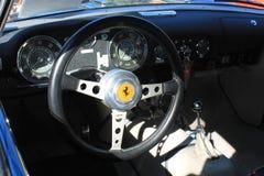 Vintage ferrari sports car interior close up Royalty Free Stock Photos