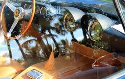 Vintage Ferrari sports car window Stock Photography