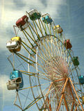 Vintage ferris wheel. Aged and worn vintage ferris wheel photo Stock Images