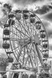 Vintage ferris wheel at Tibidabo Amusement Park, Barcelona, Cata Stock Photo